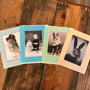 Old Timey Animals Cards