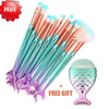 Blue Mermaid Brush Set + Gift
