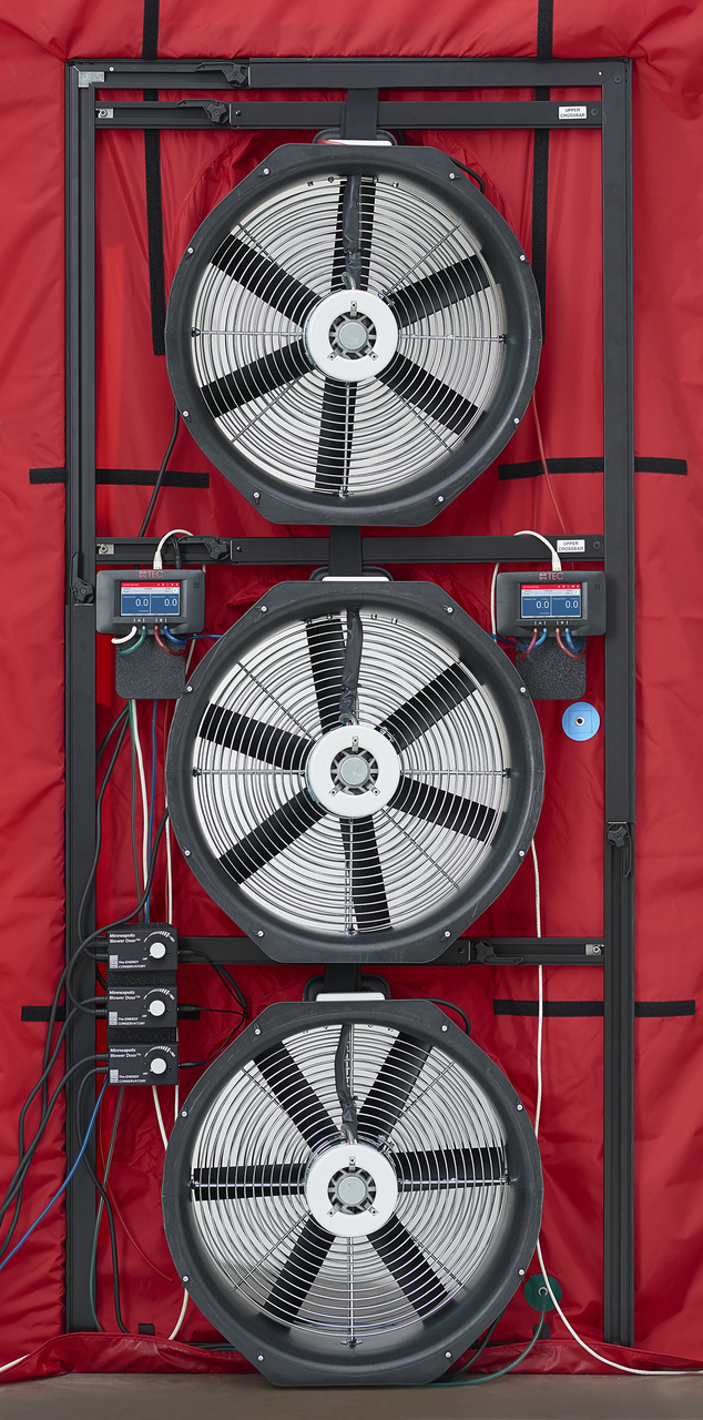 Minneapolis Blower Door™ System: 3-Fan System (with DG-1000s)