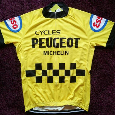 Maillot Jaune Retro Peugeot Michelin 1977 - Classical Bicycles
