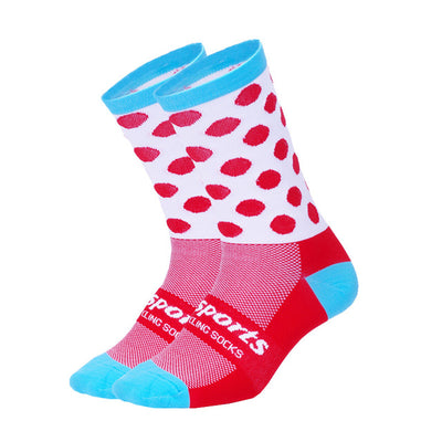 Chaussettes Piccolo Rouge/Cyan - Classical Bicycles