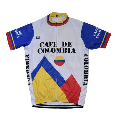 Maillot ancien Cafe De Colombia 1986 - Classical Bicycles