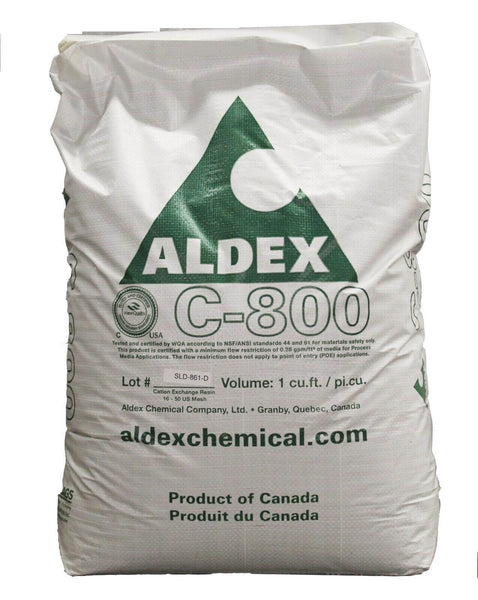 ALDEX C-800 8% crosslink WATER SOFTENER RESIN 1.0 cu.ft