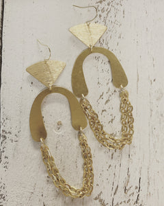 Duo Shape + Chain Earrings