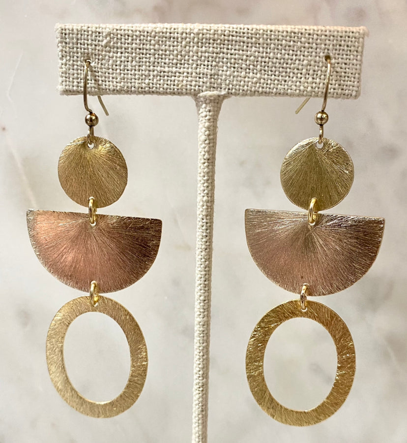 Oval Geo Earrings