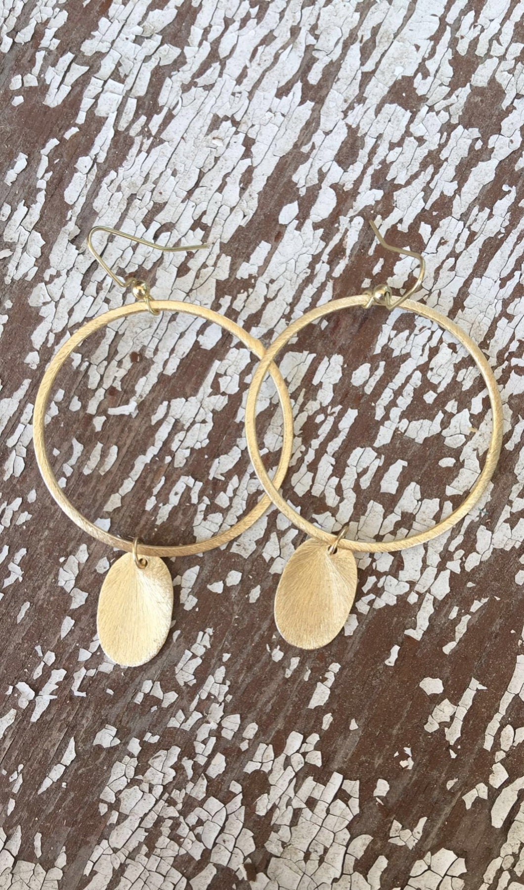 Circle Earrings w/Oval Gold Filled Pendant