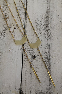 Long V + Spike Layering Necklace