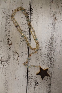 Long Star + Rosary Y Necklace
