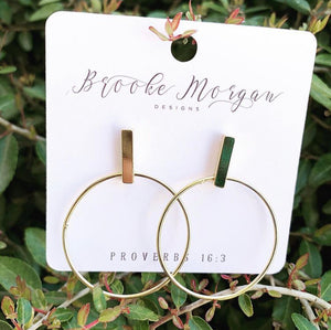 Bar + Circle Earrings