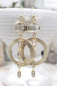 Dainty Clear Pendant Earrings