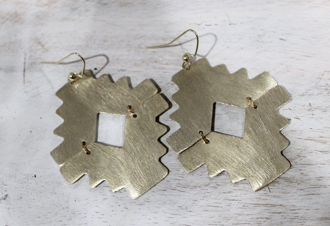 Double Aztec Earrings