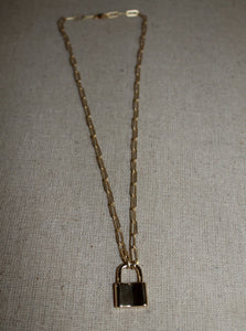 Large Link Lock Necklace