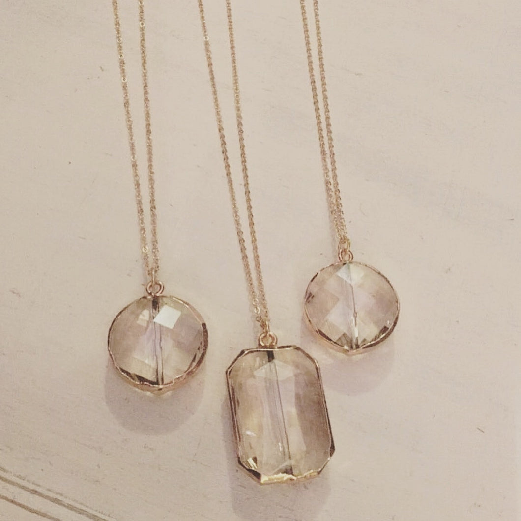 Clear Pendant Necklace