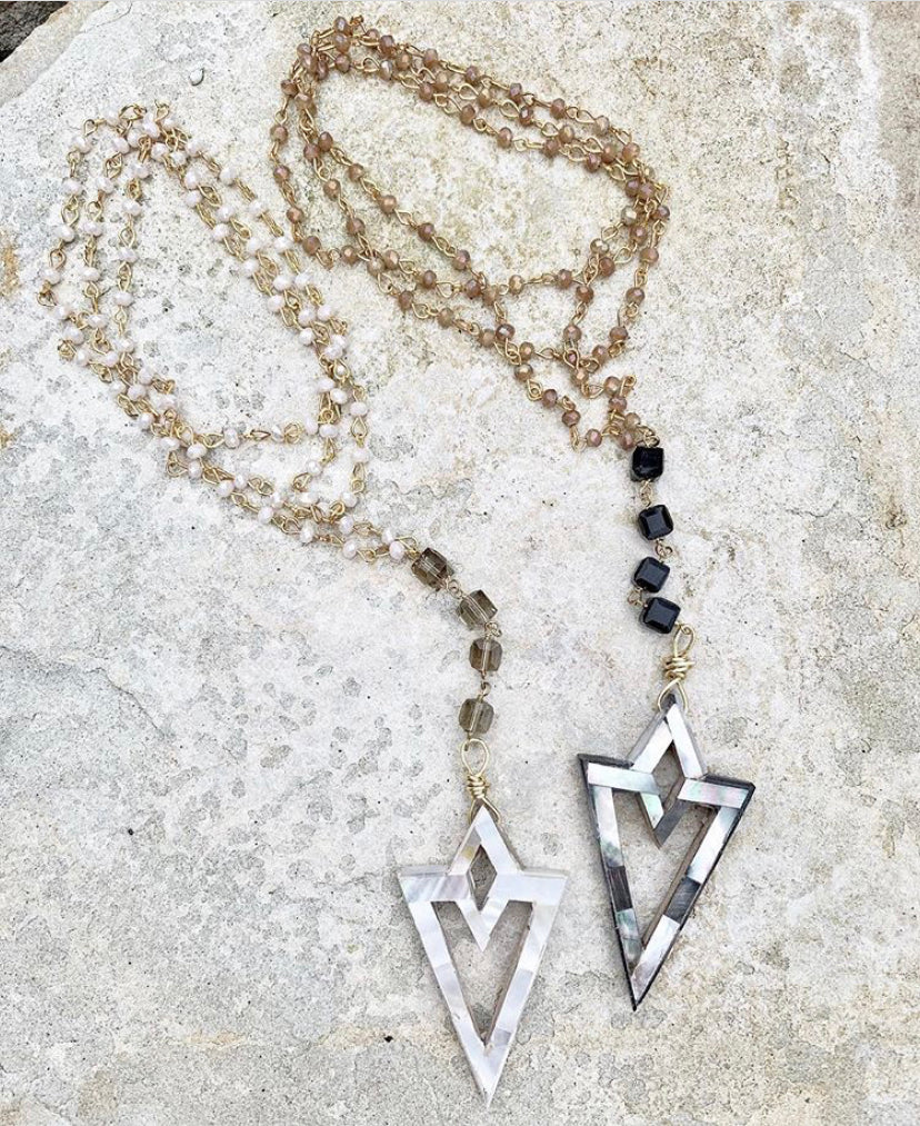 Long Rosary + Pendant Necklace