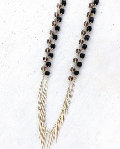 Fringe Rosary Layering Necklace