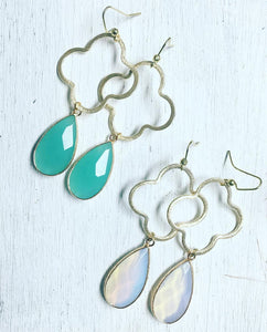 Quatrefoil Earrings w/Pendant