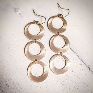 Open Disc Statement Earrings