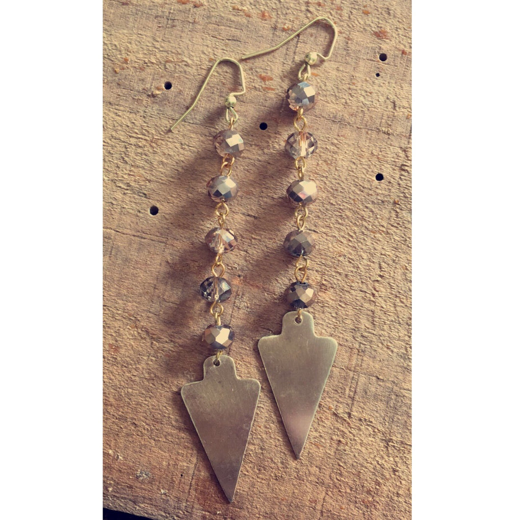 Dainty Arrowhead Earrings