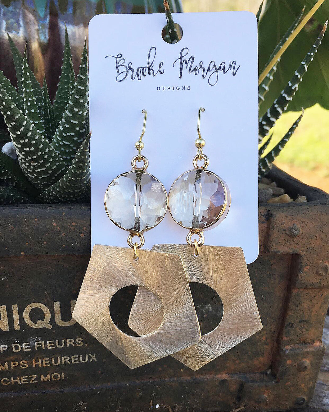 Clear Pendant Earrings