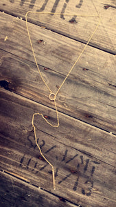 Adjustable Gold Layering Necklace