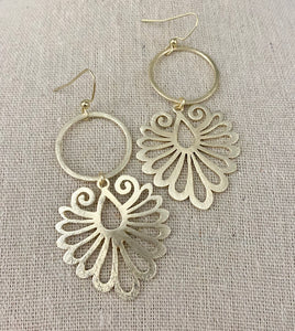 Circle + Filigree Earrings