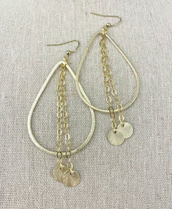 Teardrop + Chain Earrings