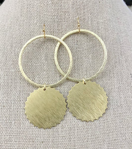 Circle + Disc Earrings