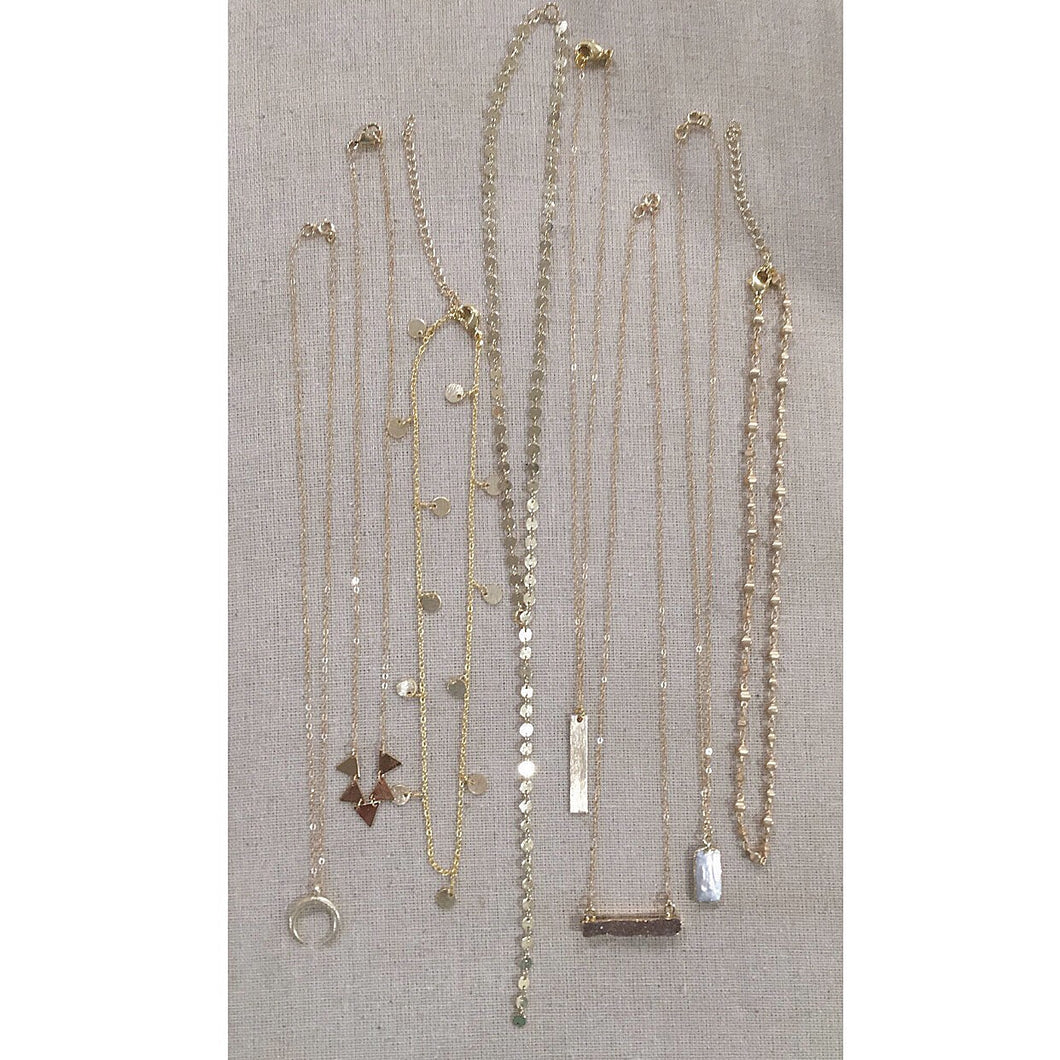 Short Dainty Gold Necklaces