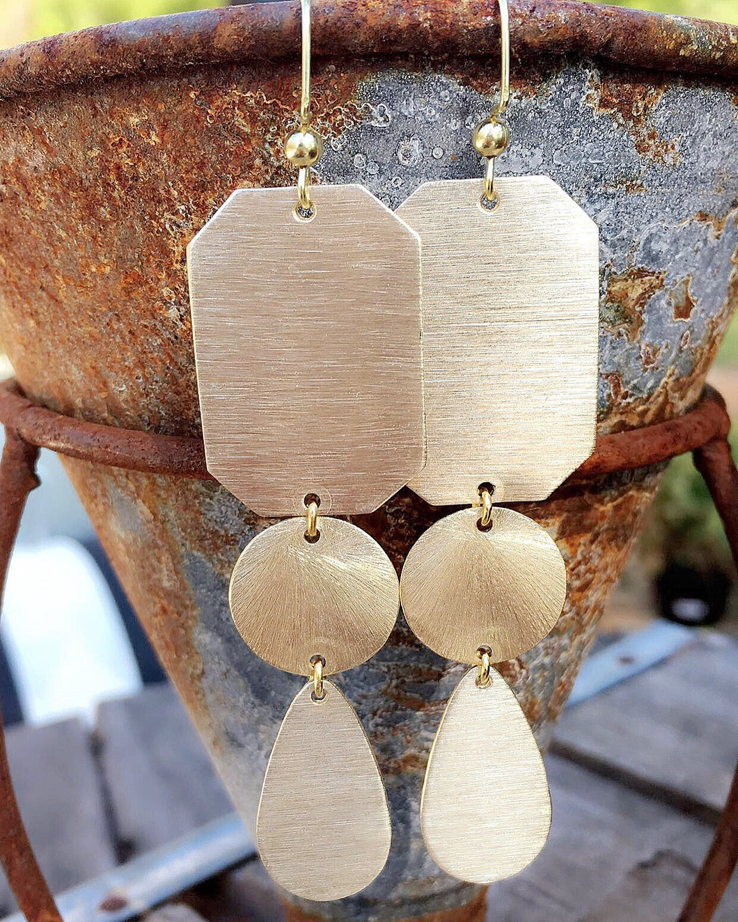 Triple Drop Statement Earrings