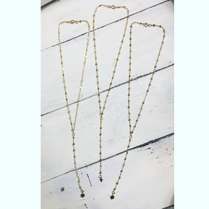 Dainty Gold Charm Y Necklace