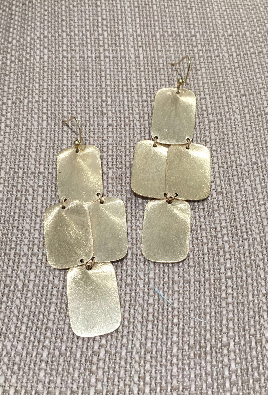 Square Chandelier Statement Earrings