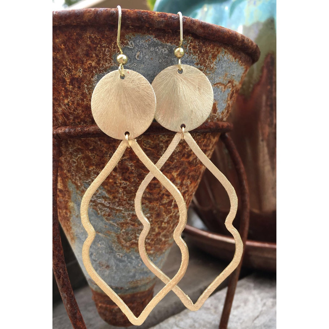Marquese + Disc Earrings
