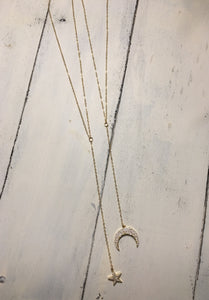 Star + Crescent Y Necklace