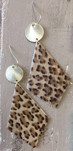 Gold + Leopard Earrings