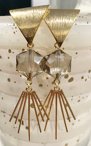 Triangle + Spike Statement Earrings