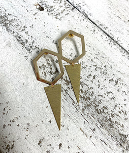 Hex + Triangle Post Earrings