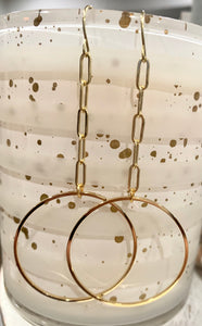 Circle + Chain Earrings