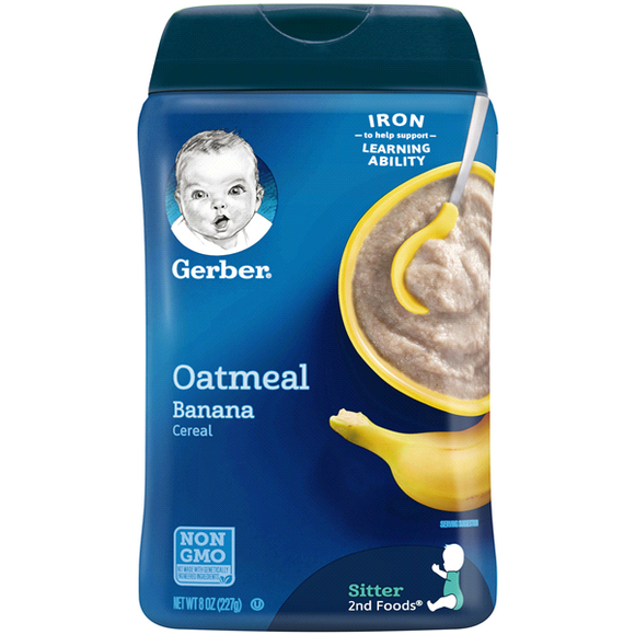 GERBER Cereal Oatmeal Banana 6/8 oz