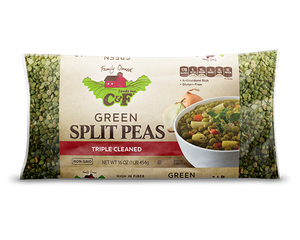 C&F Green Split Peas 1/25 lb