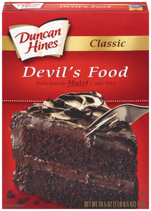 DUNCAN HINES Cake Mix, Devils Food 12/16.5 oz