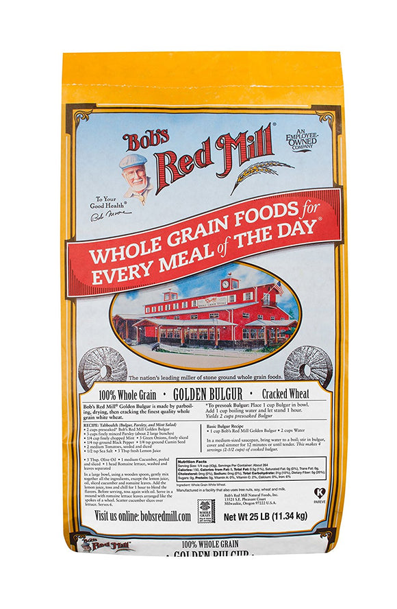 BOB'S Red Mill Golden Bulgur 1/25 Lb