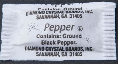 DIAMOND Black Pepper Single Serve 3000/0.1 gram