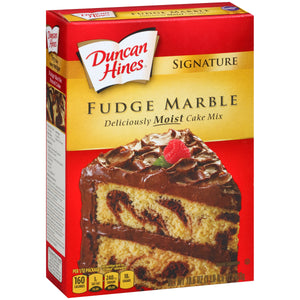 DUNCAN HINES Cake Mix, Fudge Marble 12/16.5 oz