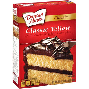 DUNCAN HINES Cake Mix, Yellow 12/16.5 oz