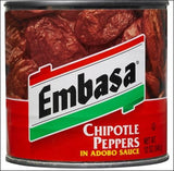 EMBASA Chipotle Pepper in Adobo Sauce 12/7 oz
