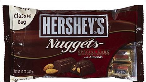 HERSHEY'S Dark Choc.w/Almond Nuggets 12/12 oz