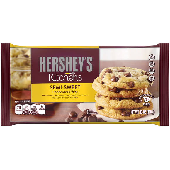 HERSHEY'S Semi-Sweet Chocolate Chips 12/12 oz