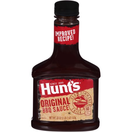 HUNTS BBQ Sauce, Original 12/18 oz