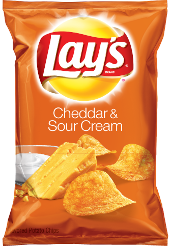 LAYS Potato Chips, Cheddar & Sour Cream 12/6.5 oz