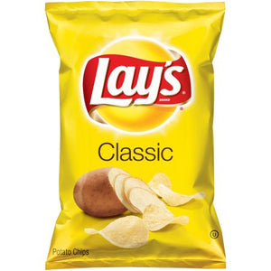 LAYS Potato Chips, Classic 12/6.5 oz